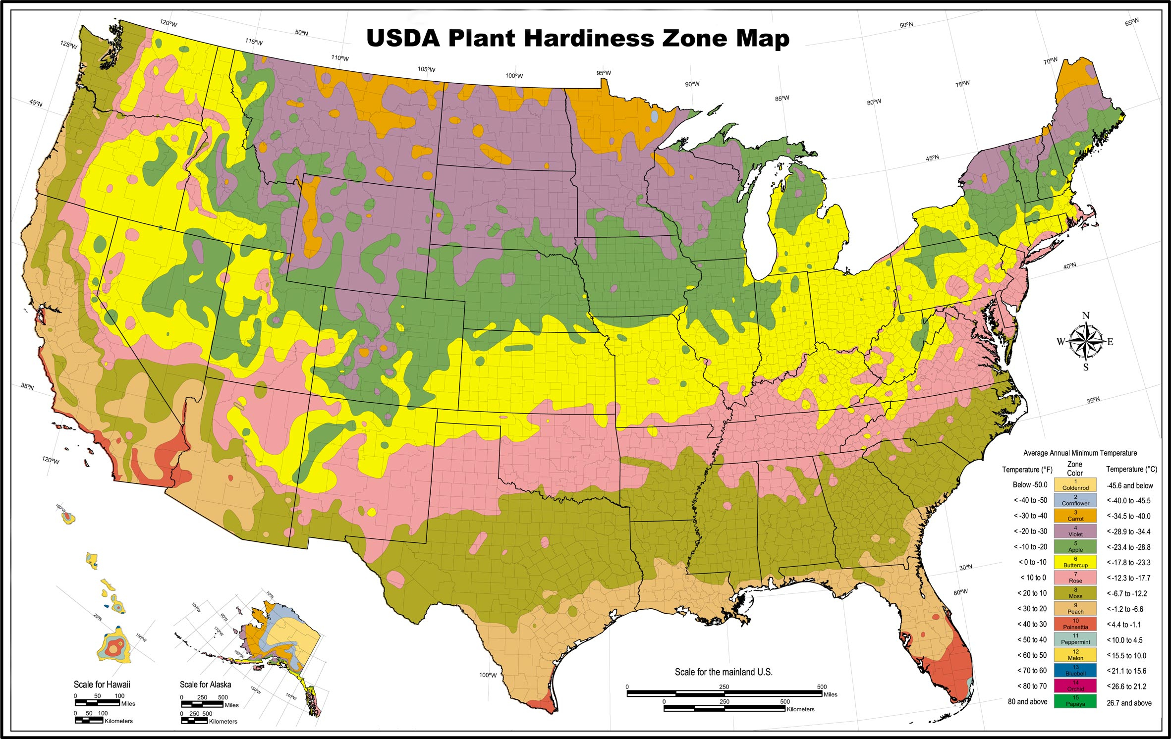 Usda Hardiness Zones Outline Map With California Climate Zones Map - Usda Hardiness Zone Map California
