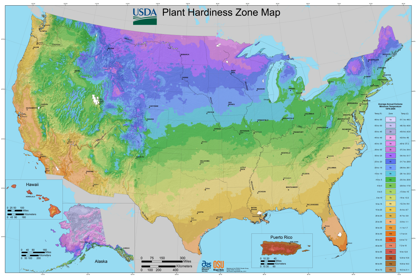 Usda Planting Zones For The U.s. And Canada | The Old Farmer's Almanac - Texas Garden Zone Map