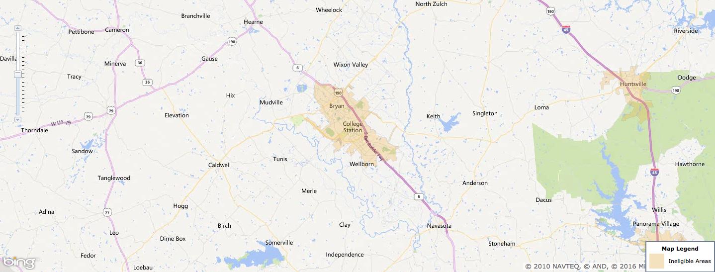 Usda Rural Development Loan - College Station, Tx - Usa Home Financing - Usda Loan Map Texas