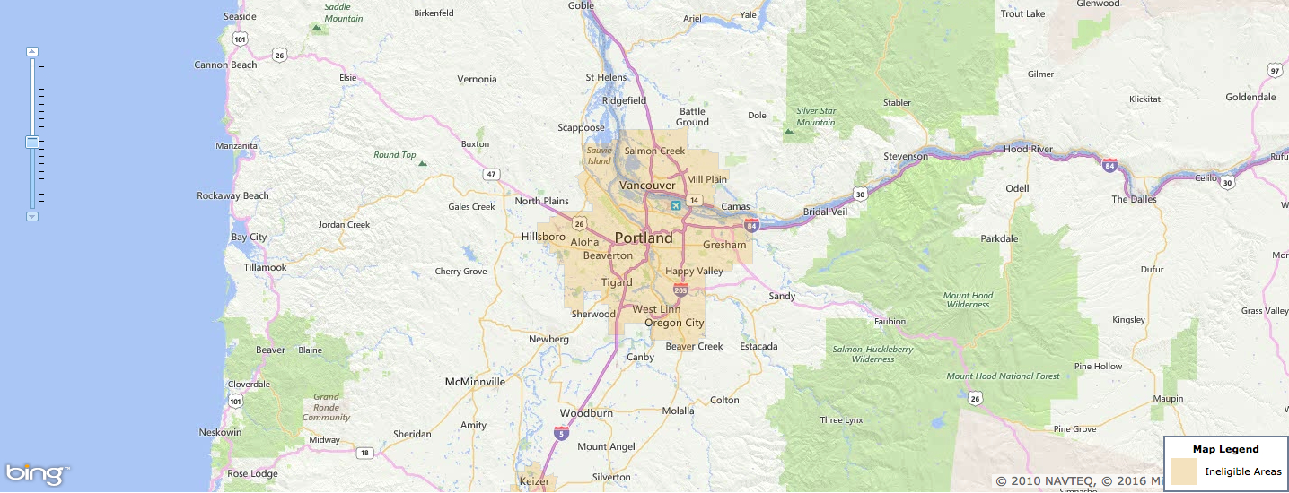 Usda Rural Development Loan - Portland, Or - Usa Home Financing - Usda Loan Map California