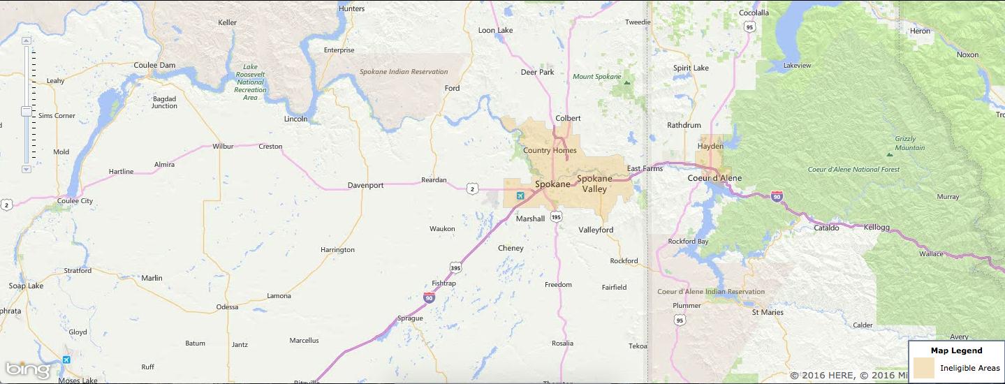 Usda Rural Development Loan - Spokane, Wa - Usa Home Financing - Usda Rural Development Map Texas