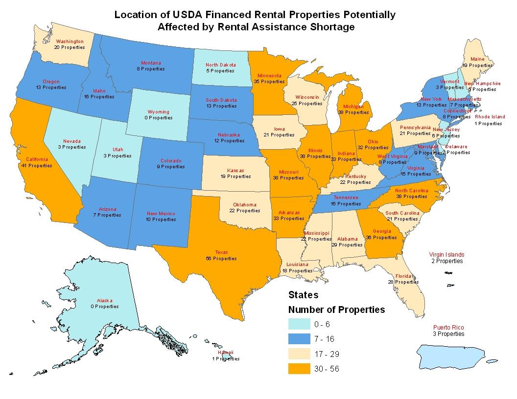 Usda Rural Development Notifies Rural Rental Housing Borrowers - Usda Home Loan Map California
