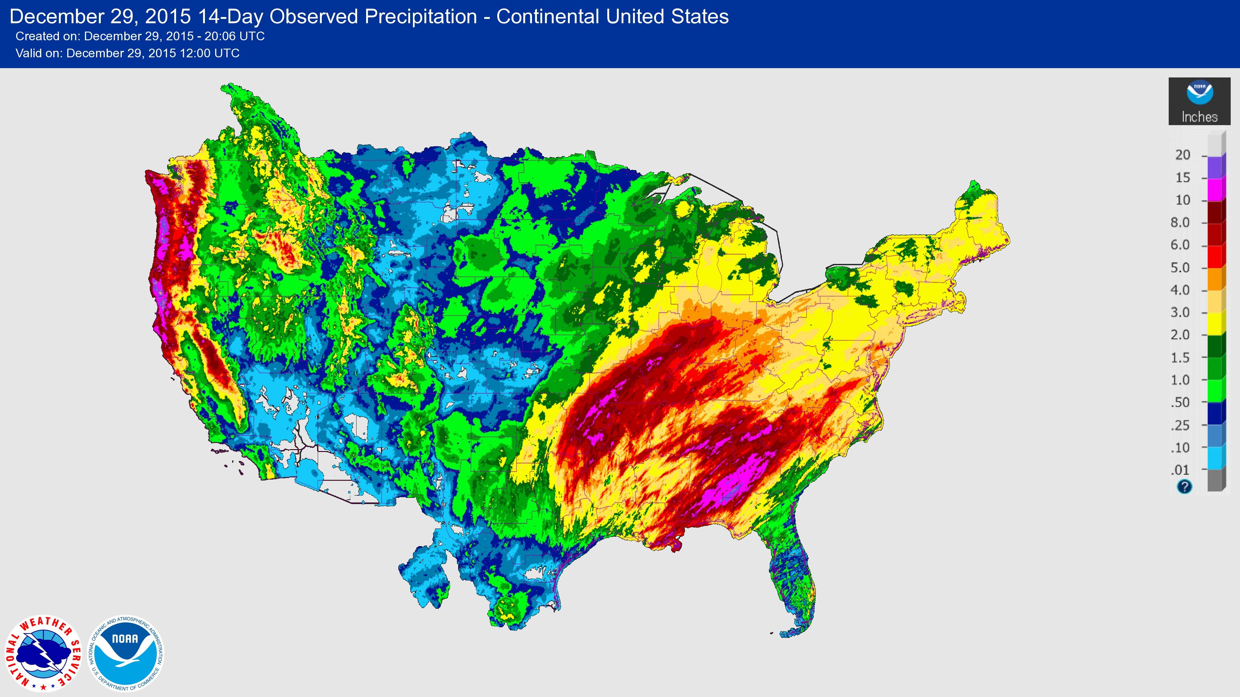 Usgs 2015/2016 Winter Floods - Texas Flood Map