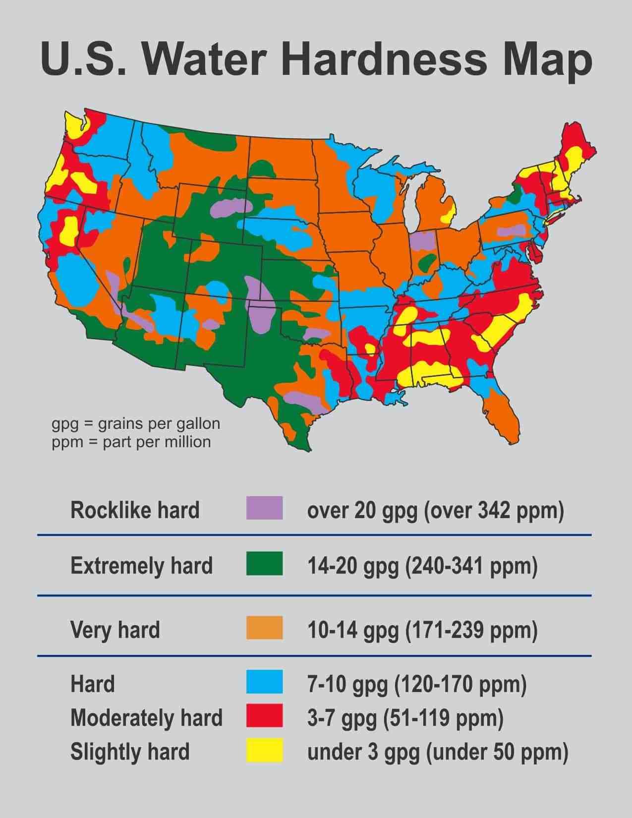 Usgs Water Hardness Map - Florida Water Hardness Map