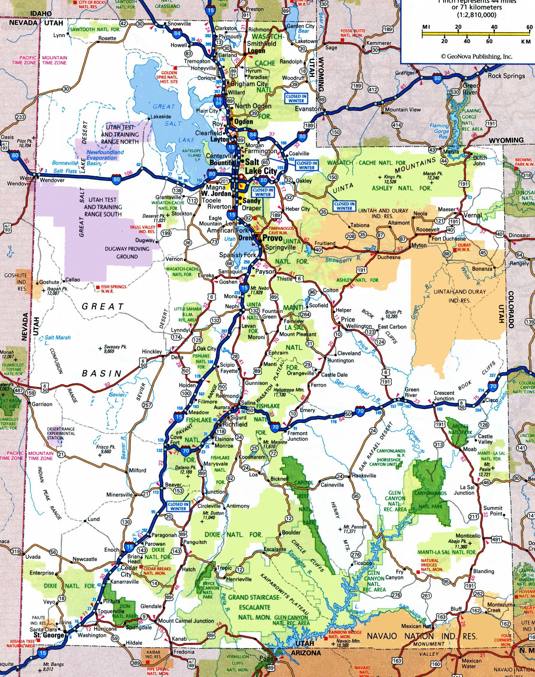 Utah Road Map - Utah Road Map Printable
