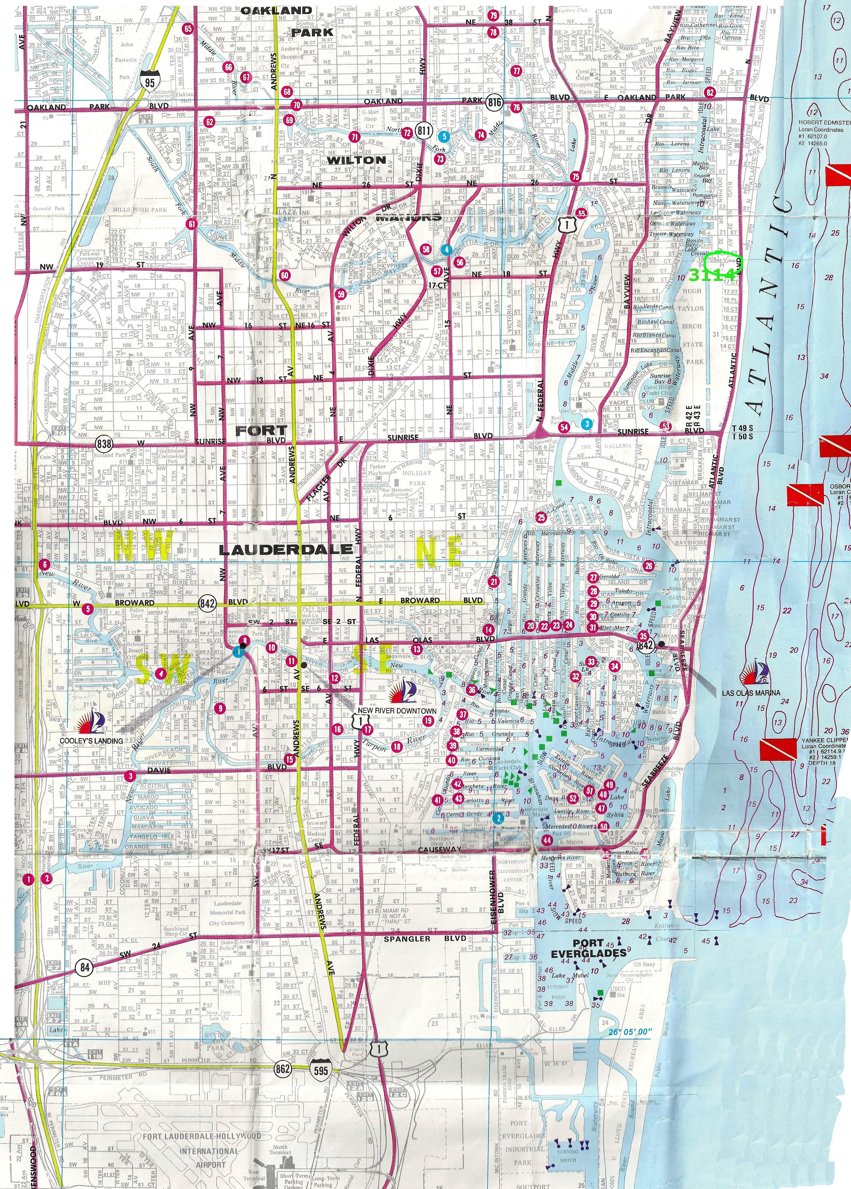 Vacation House - Canal And Street Map   Dolphin Isles - Intracoastal - Street Map Of Fort Lauderdale Florida