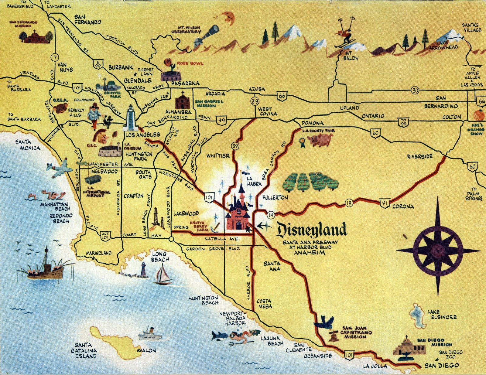 Vacationland Bmagazine Bmap C B Map Road With Aliso Viejo California - Mission Viejo California Map