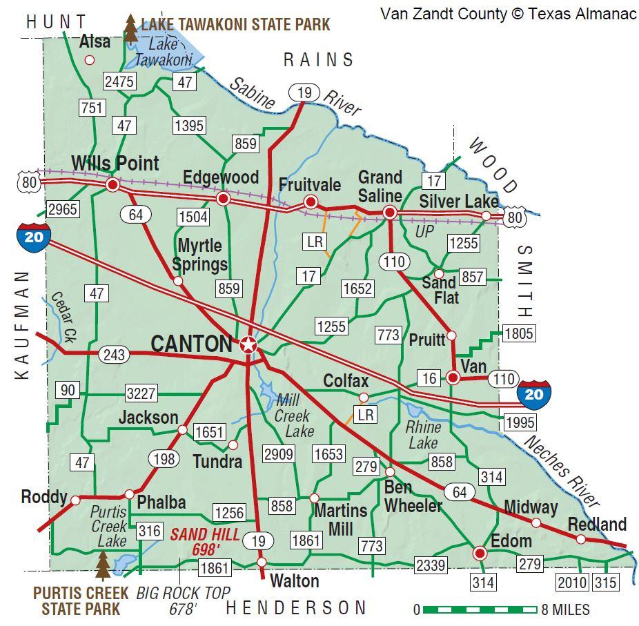 Van Zandt County | The Handbook Of Texas Online| Texas State - Van Zandt County Texas Map