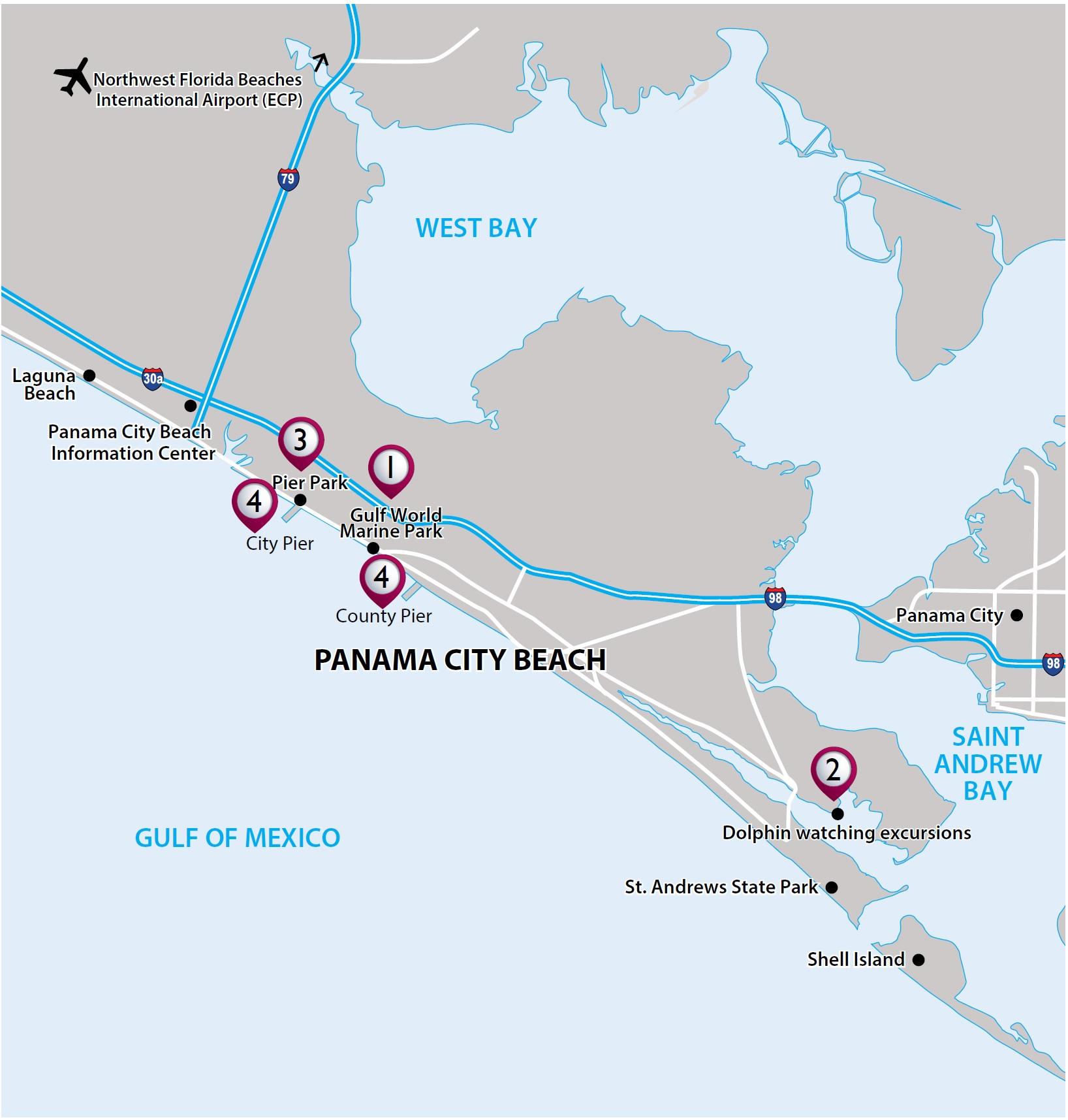Vax Vacationaccess - Destination Detail - Map Of Northwest Florida Beaches