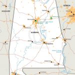 Vector Map Of Alabama Political | One Stop Map   Printable Map Of Chattanooga