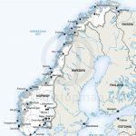Vector Map Of Norway Political | Homeschool | Norway Map, Stavanger   Printable Map Of Oslo Norway