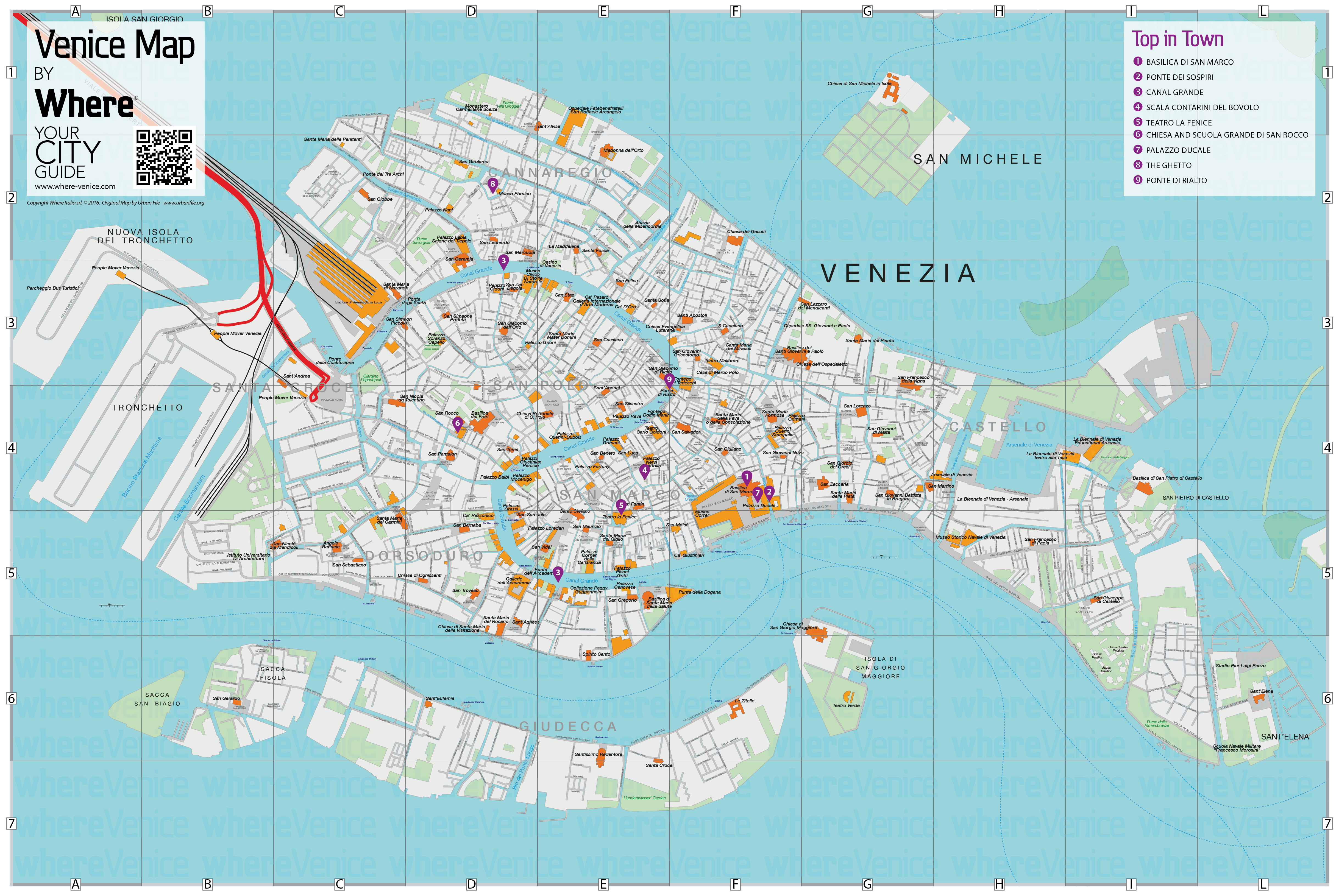 Venice City Map - Free Download In Printable Version | Where Venice - Venice Printable Tourist Map
