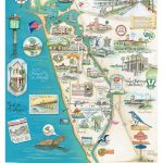 Venice, Florida Map   This Map Is One Of The Prettiest Maps I Have   Englewood Florida Map