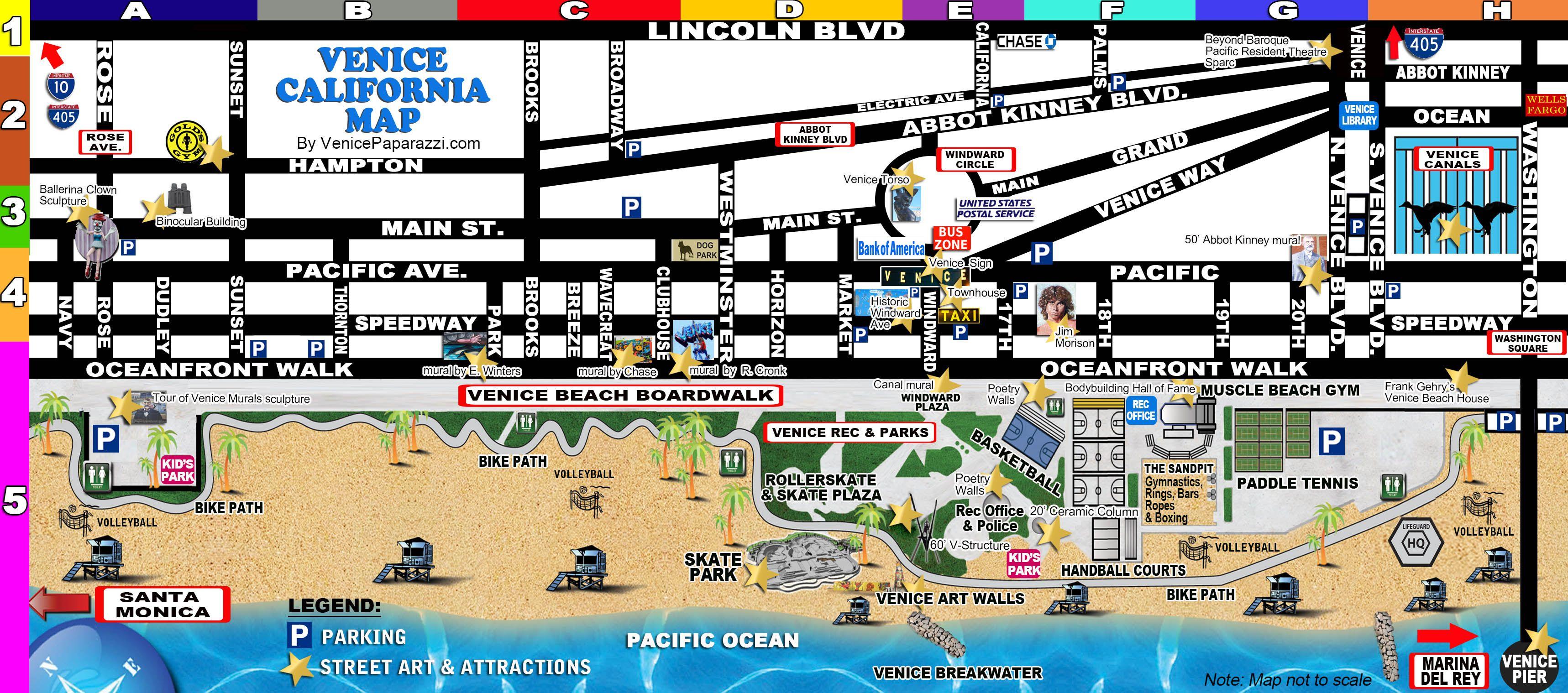 Venice-Map | La In 2019 | Venice Beach Florida, Venice Beach - Venice Beach Florida Map