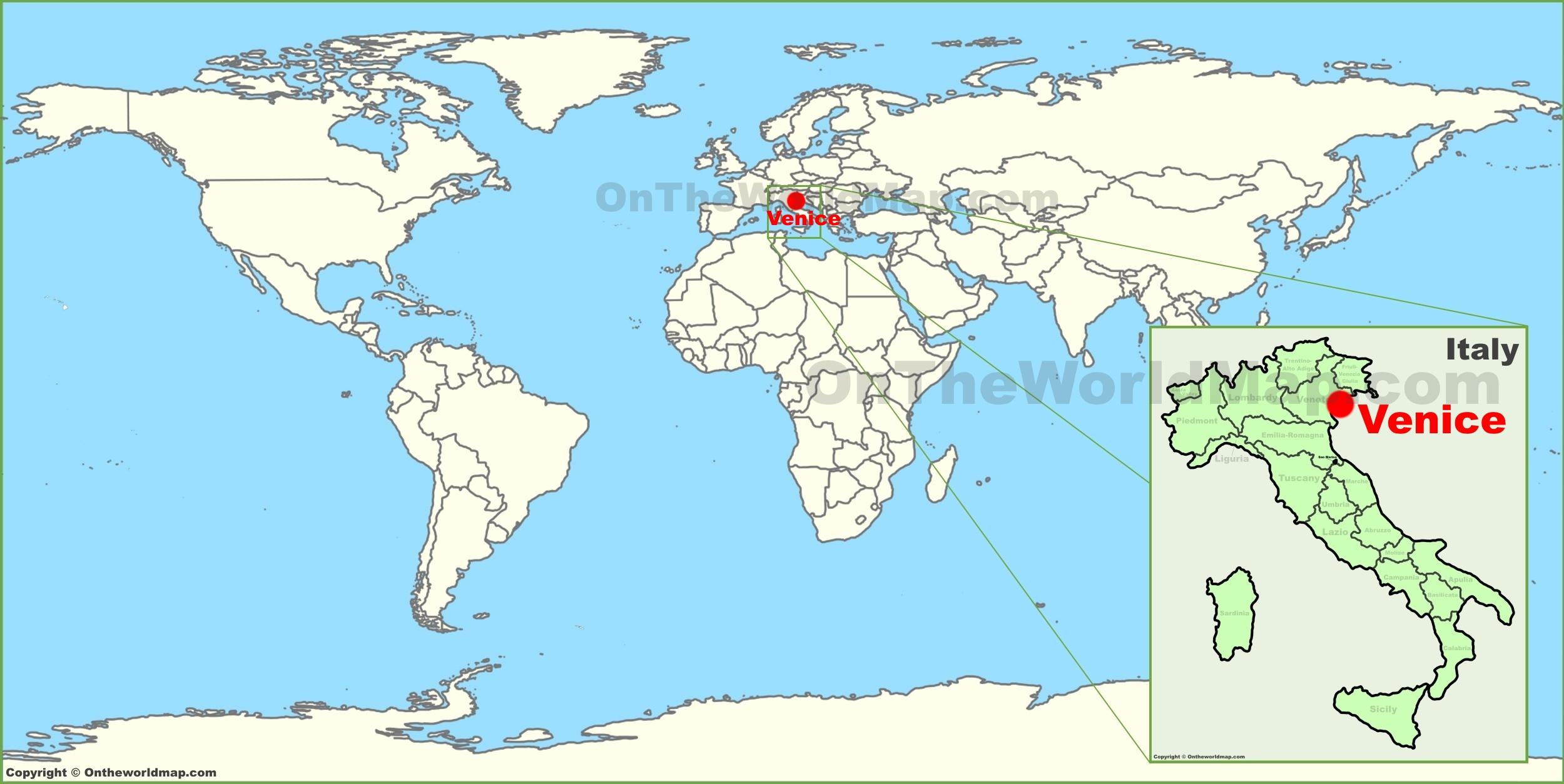 Venice On Map - 14.11.kaartenstemp.nl • - Venice Beach Florida Map