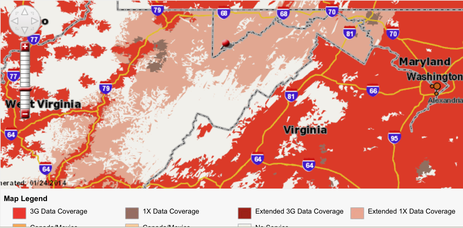 Verizon Wireless Coverage Map California - Klipy - Verizon Wireless Coverage Map California