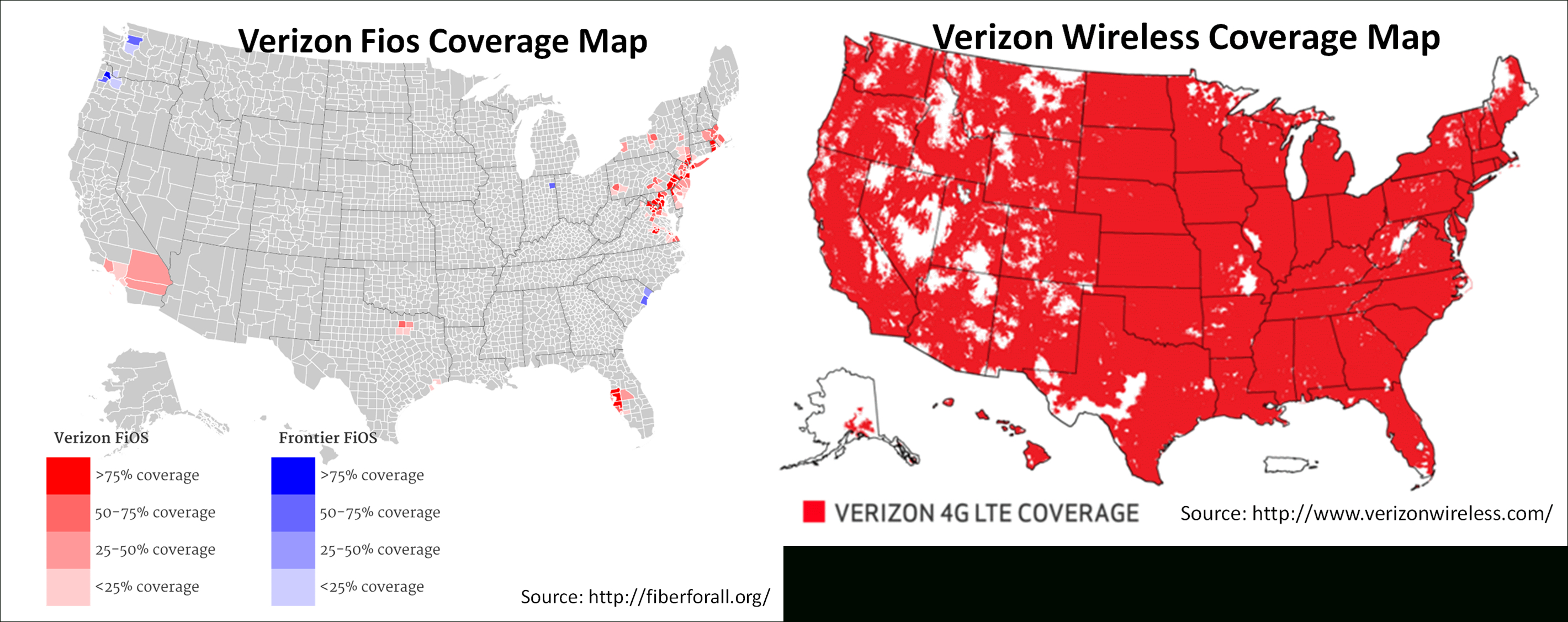 Verizon's Acquisition Of Aol Is A Move To Disrupt The Tv Market - Verizon Coverage Map In California