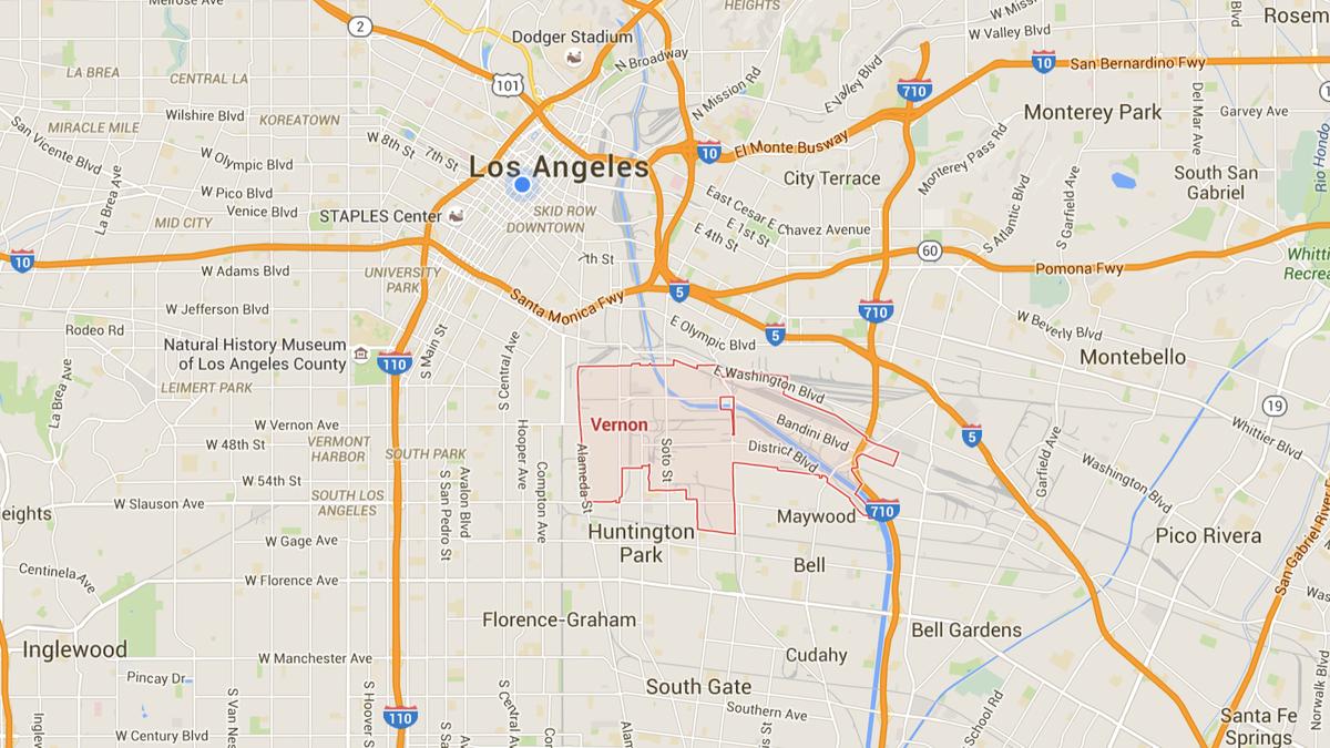 Vernon Vinci True Detective Google Maps California Where Is Vernon - Vernon California Map