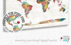 Very Large Custom World Map Print Or Printable World Map Art | Etsy – Large Printable World Map