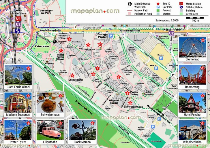 Vienna City Map Printable