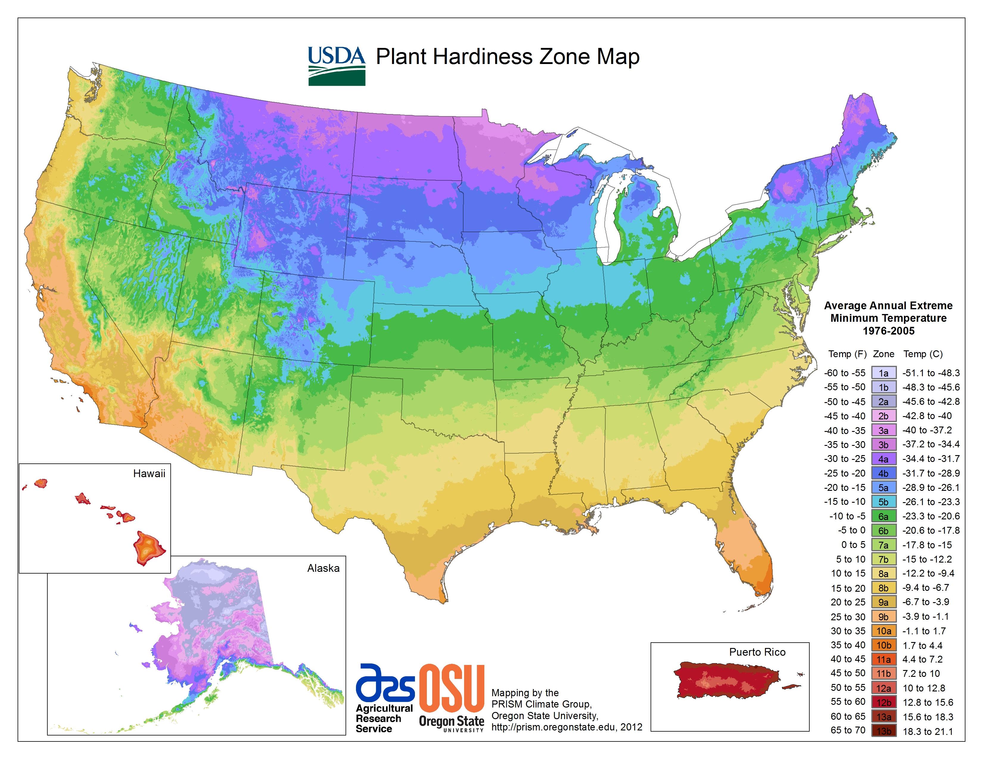View Maps   Usda Plant Hardiness Zone Map - Usda Map California