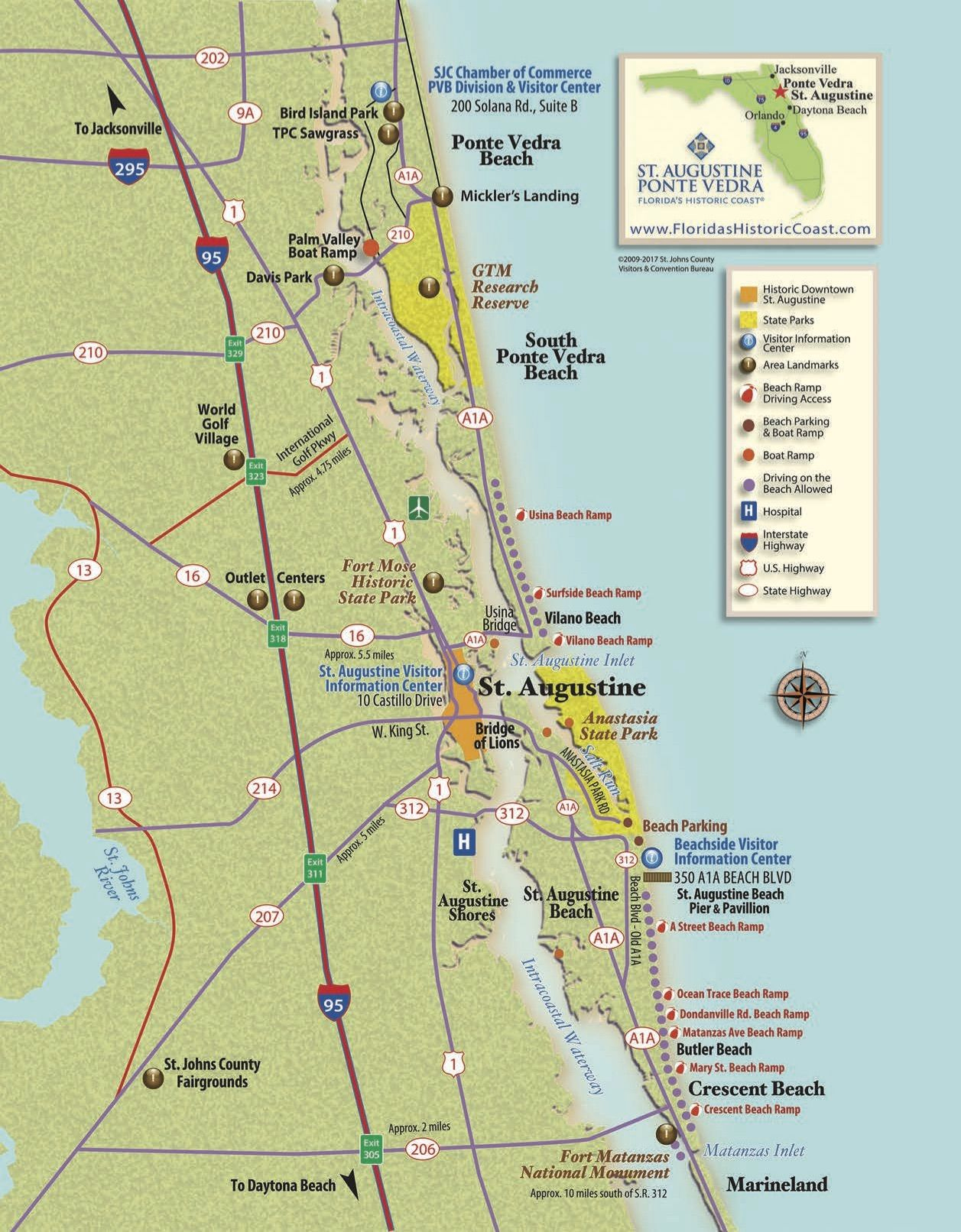 View St. Augustine Maps To Familiarize Yourself With St. Augustine - St Augustine Florida Map