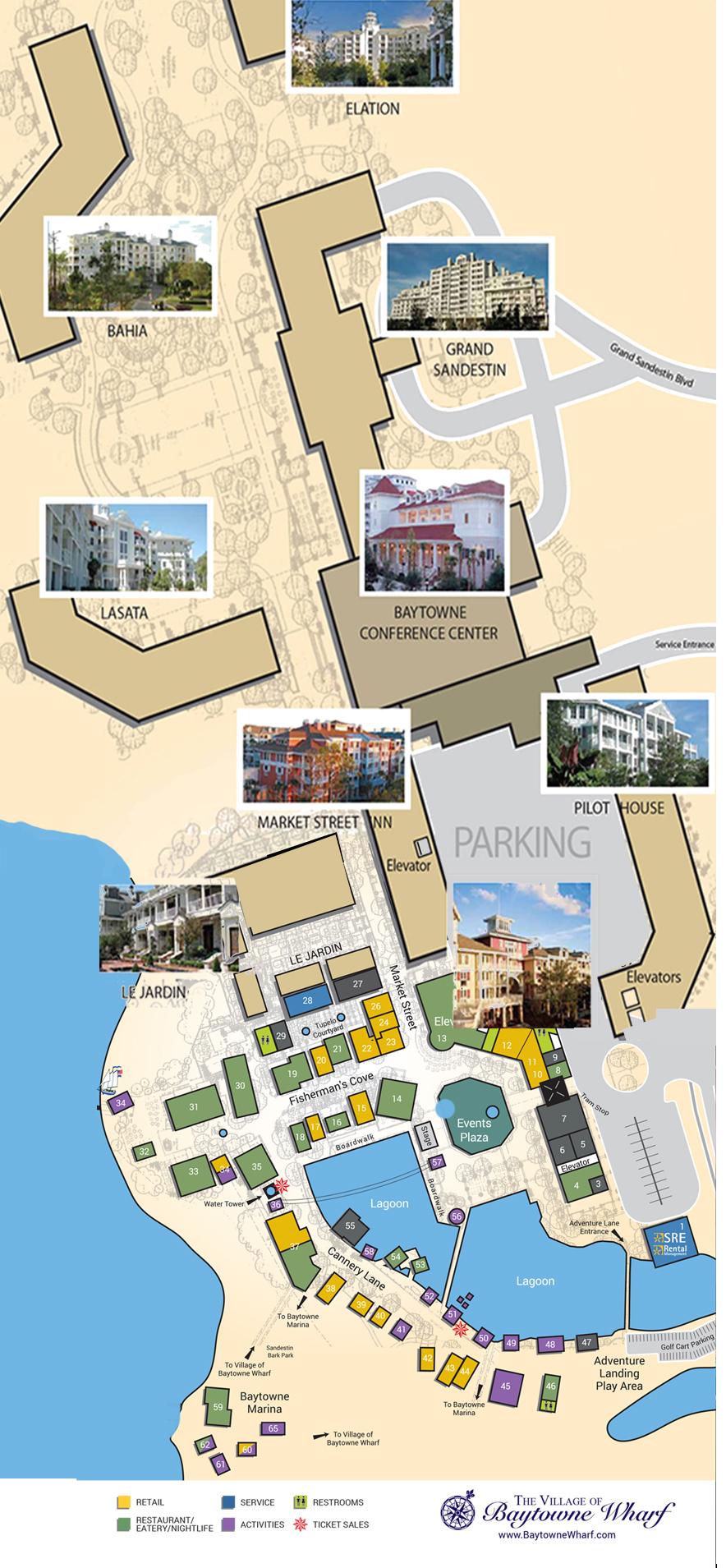 Village Map | The Village Of Baytowne Wharf | Located In Sandestin - Google Maps Destin Florida