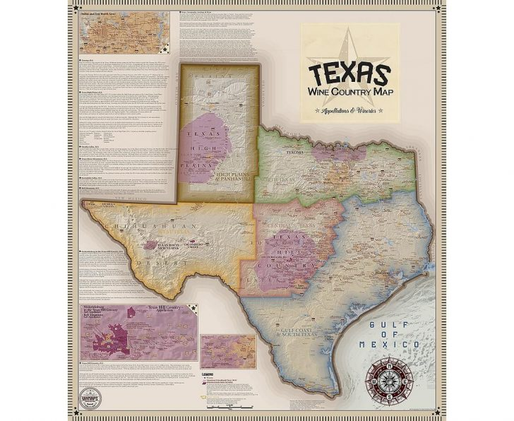 Texas Hill Country Wine Trail Map