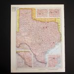 Vintage 1960 Texas Map / Map Wall Art / Office Decor / Texas | Etsy   Old Texas Map Wall Art