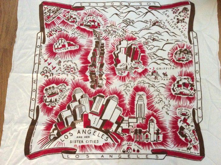 Vintage California Map Tablecloth
