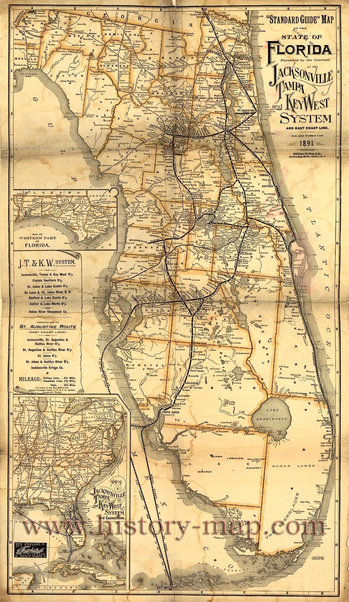 Vintage Florida Map | Floride | Florida, Vintage Florida Et Old Florida - Vintage Florida Map