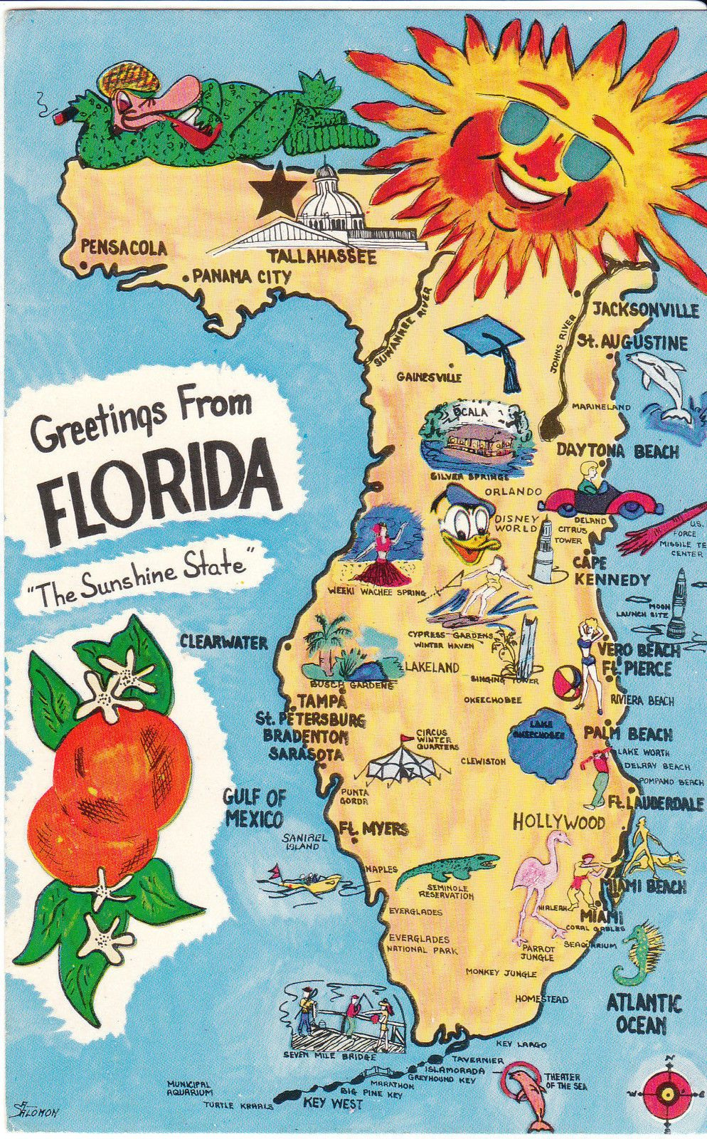 Vintage Florida Map | Graphic Design Styles | Pinterest | Vintage - Vintage Florida Map