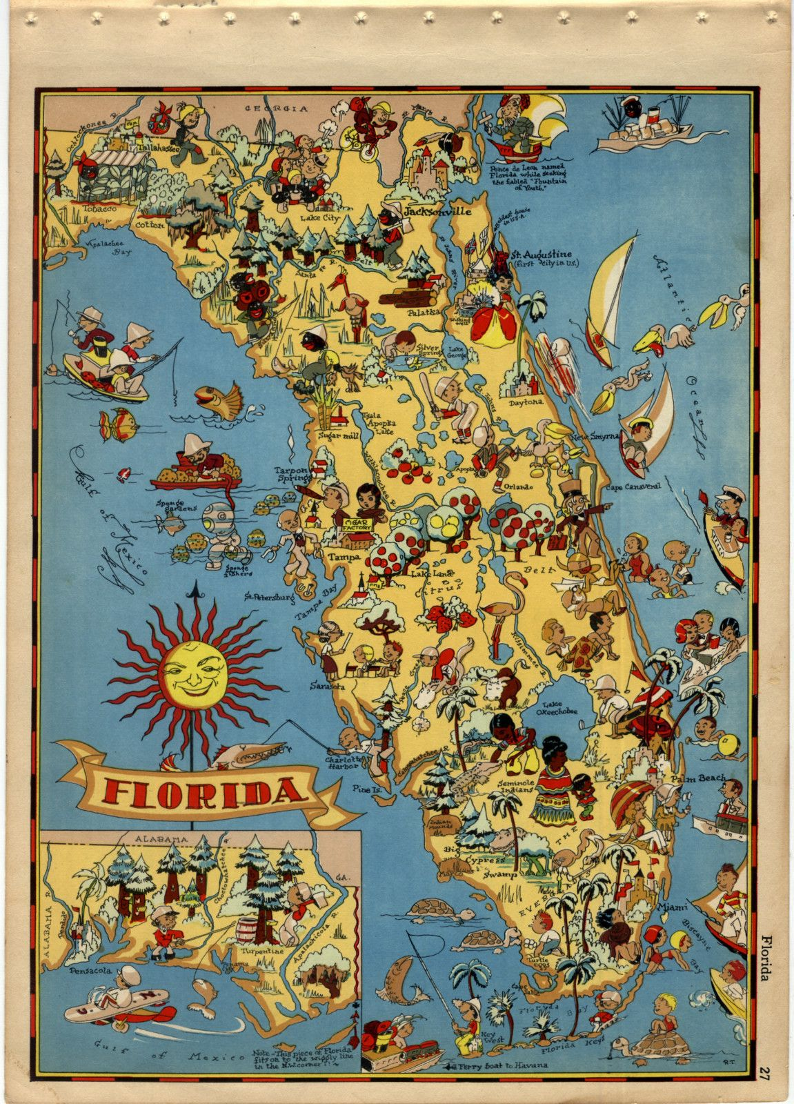 Vintage Florida Map | Obsessed With Maps  | Vintage Florida - Vintage Florida Map