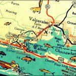 Vintage Map Art Of Destin Florida 8X10 Retro Map Ft Walton Beach   Destin Florida Map