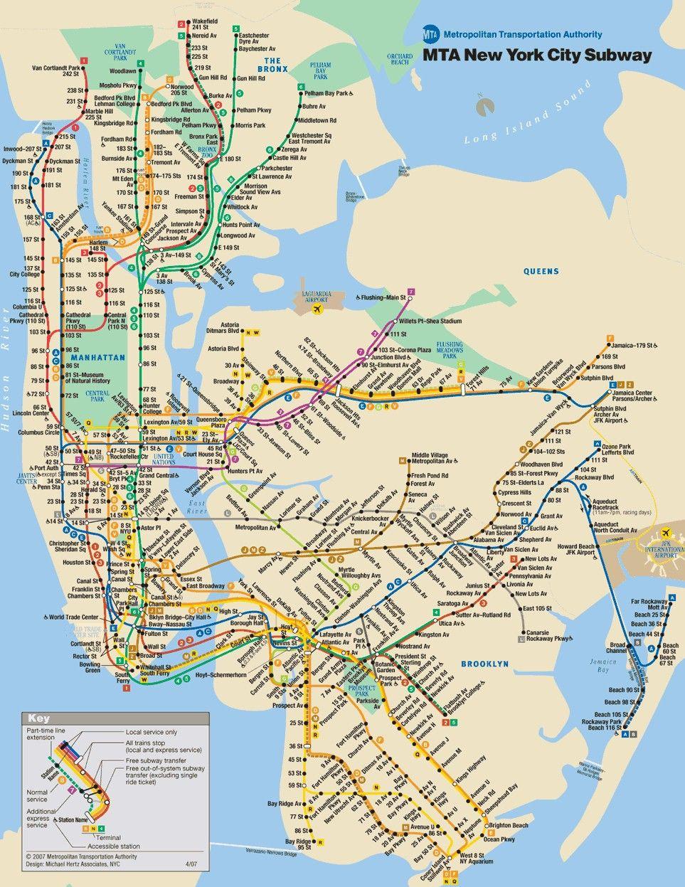 Vintage New York Subway Maps | New York City Subway Map Printable - Free Printable Map Of New York City