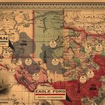 Vintage Texas Spindletop Shale Oil Map | Shale Maps Pro   Vintage Texas Map