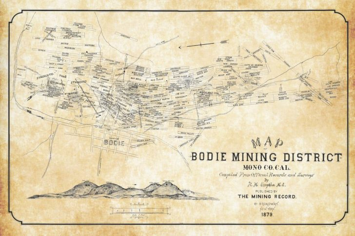 Bodie California Map