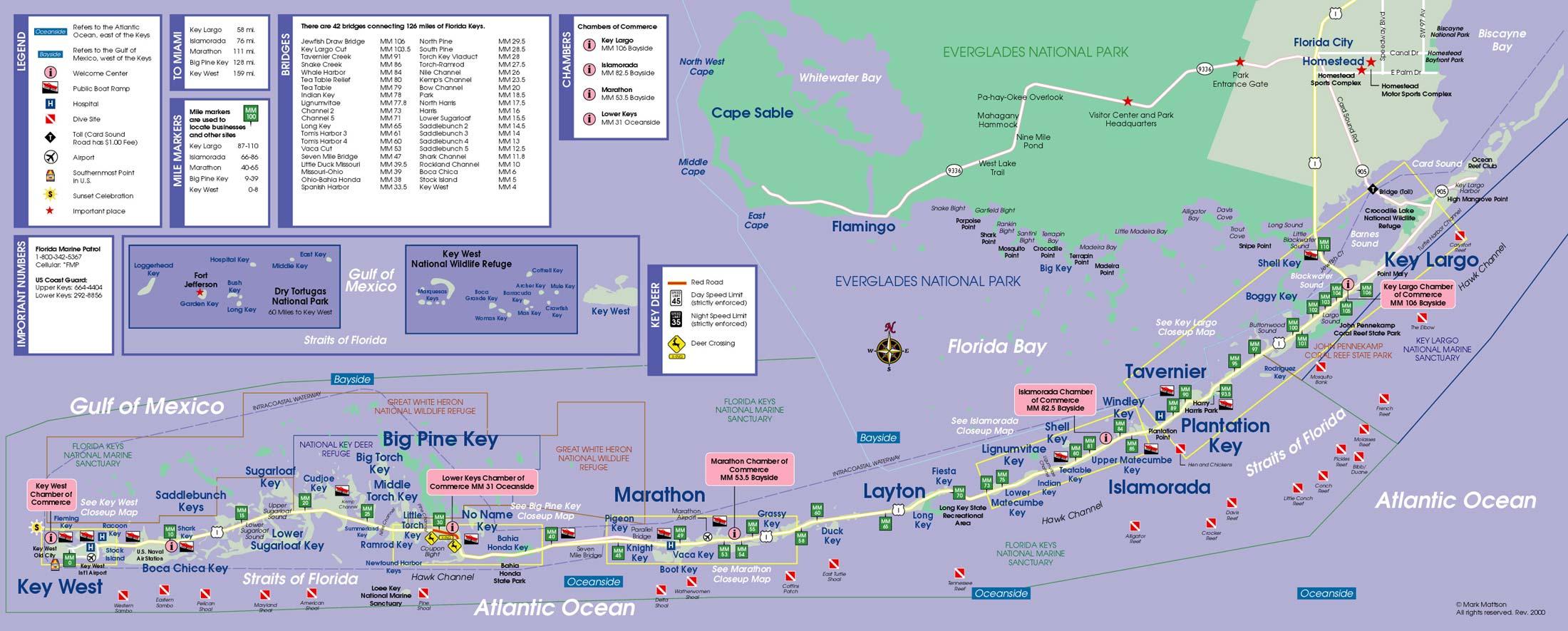 Visiter Les Keys, Les Plus Belles Îles Et Plages De Floride - Florida Keys Islands Map