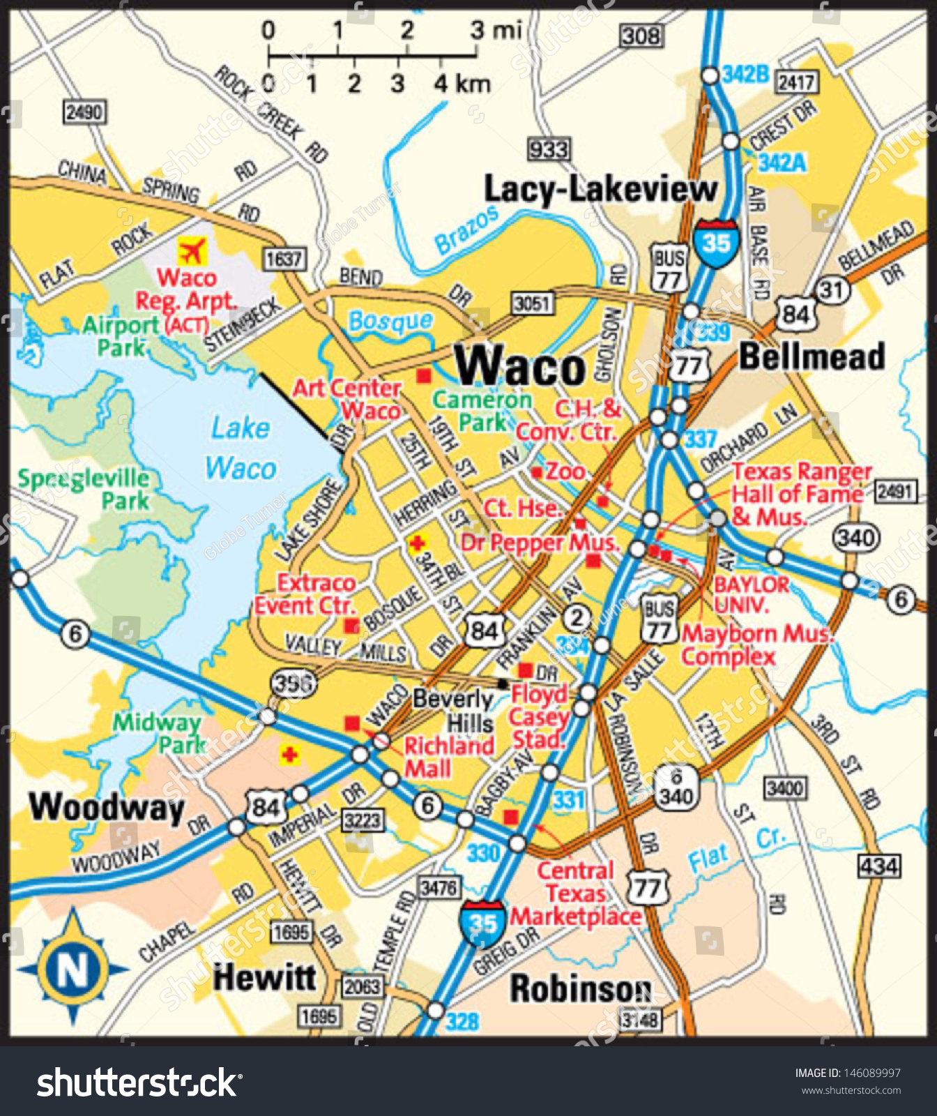 Waco Map And Travel Information   Download Free Waco Map - Map Of Waco Texas And Surrounding Area