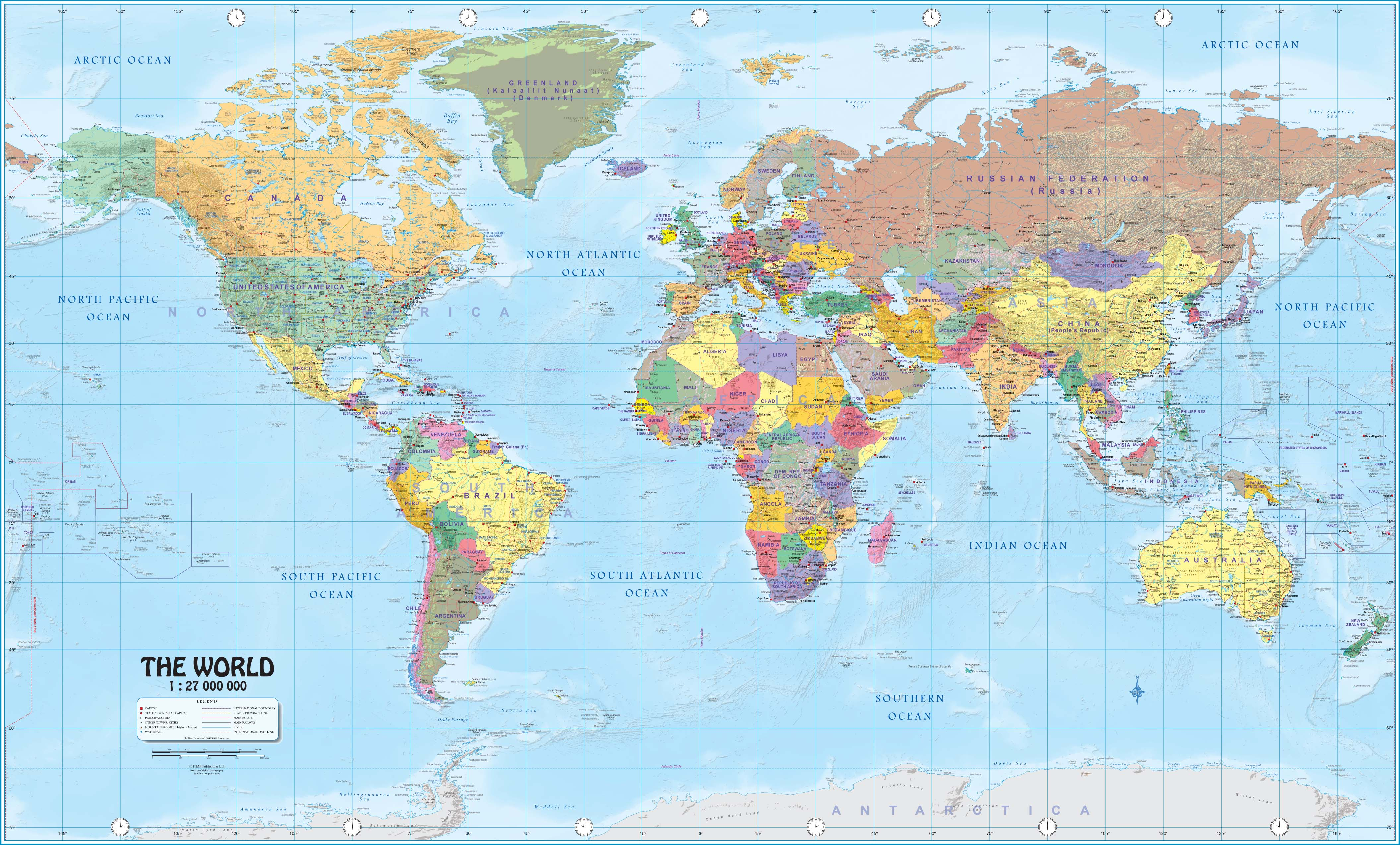 Wall Maps Of The World - National Geographic World Map Printable
