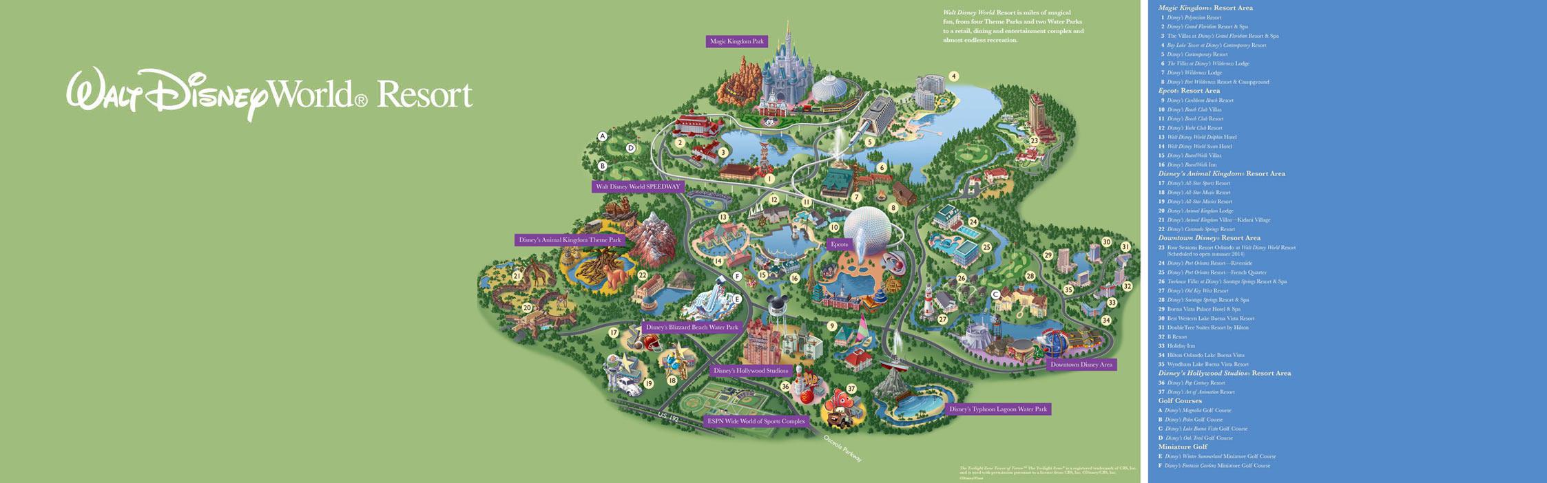 Walt Disney World® Resort Map- Wyndham Lake Buena Vista - Hotel Near - Disney World Florida Hotel Map
