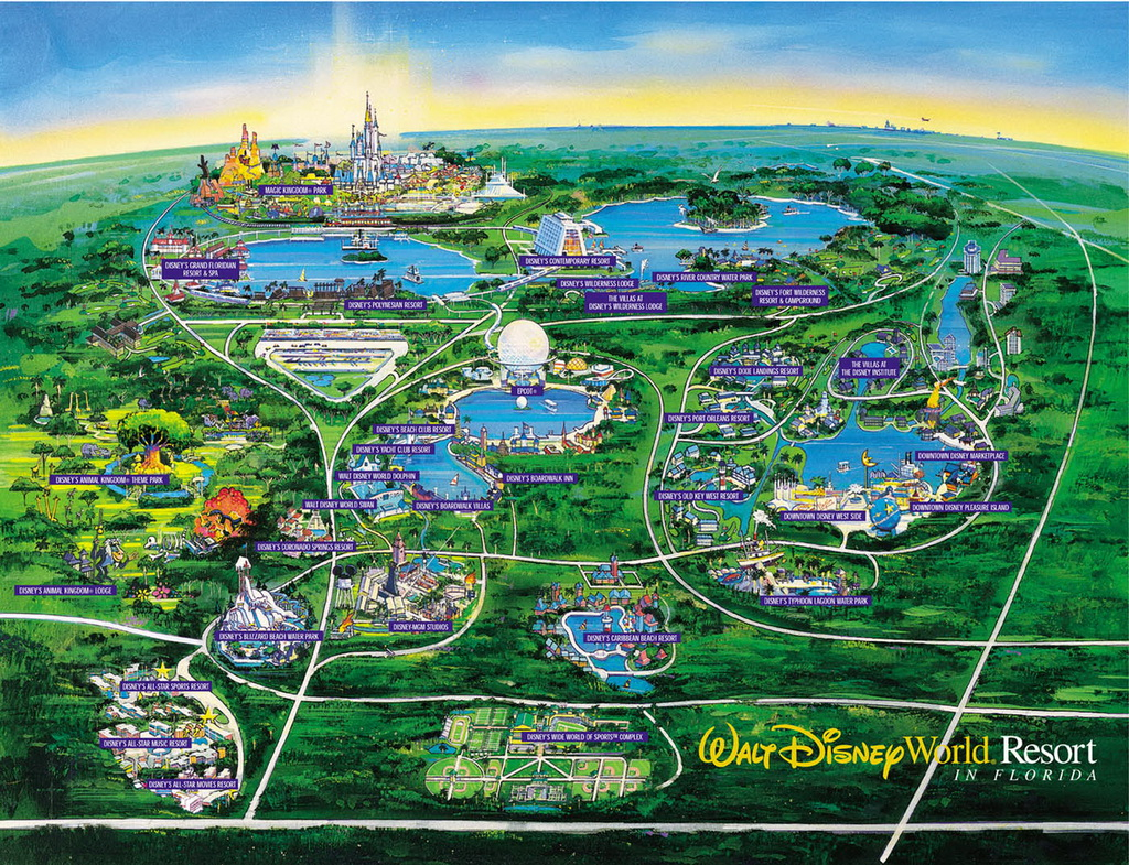 Walt Disney World Vacation Planning Video From 1995 – Travelivery® - Walt Disney Florida Map
