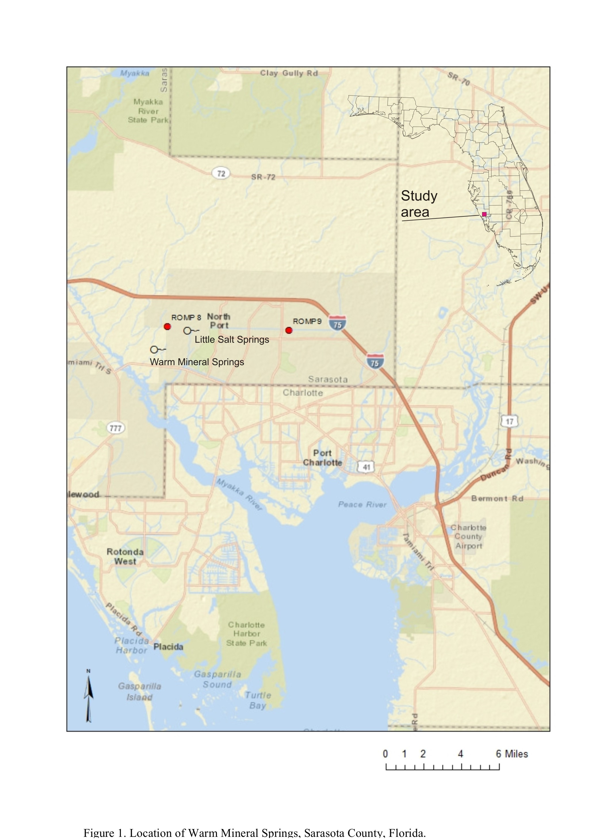 Warm Mineral Springs, Sarasota County, Florida - Warm Mineral Springs Florida Map