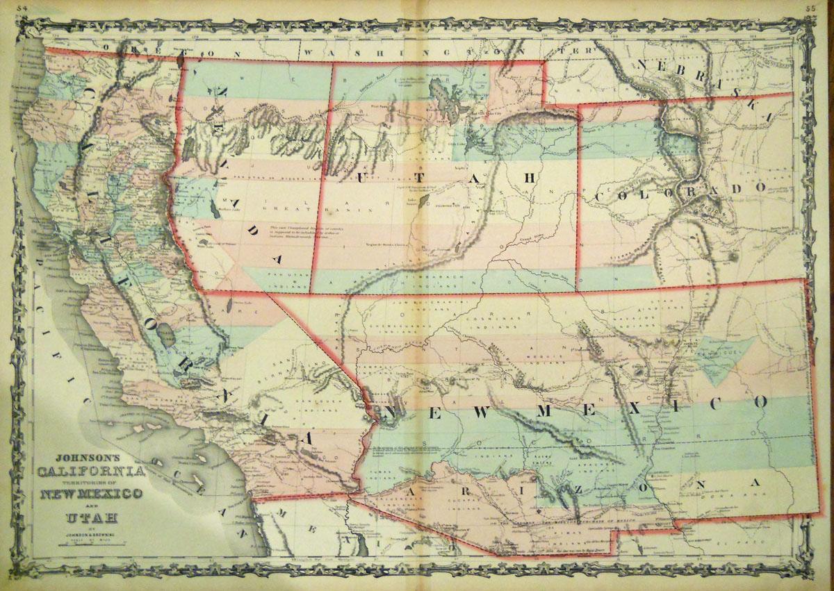 Washington County Maps And Charts - California Territory Map