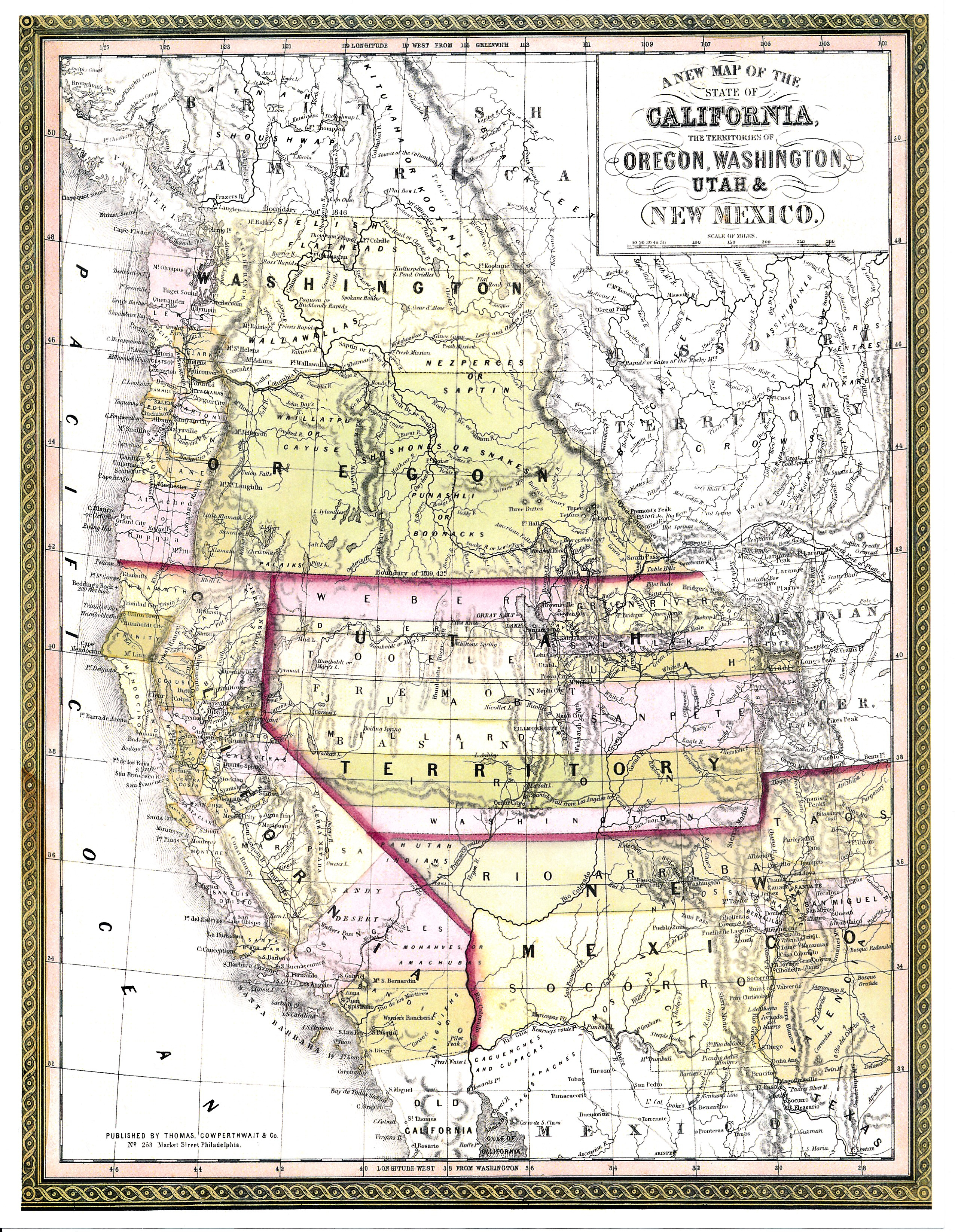 Washington County Maps And Charts - Early California Maps