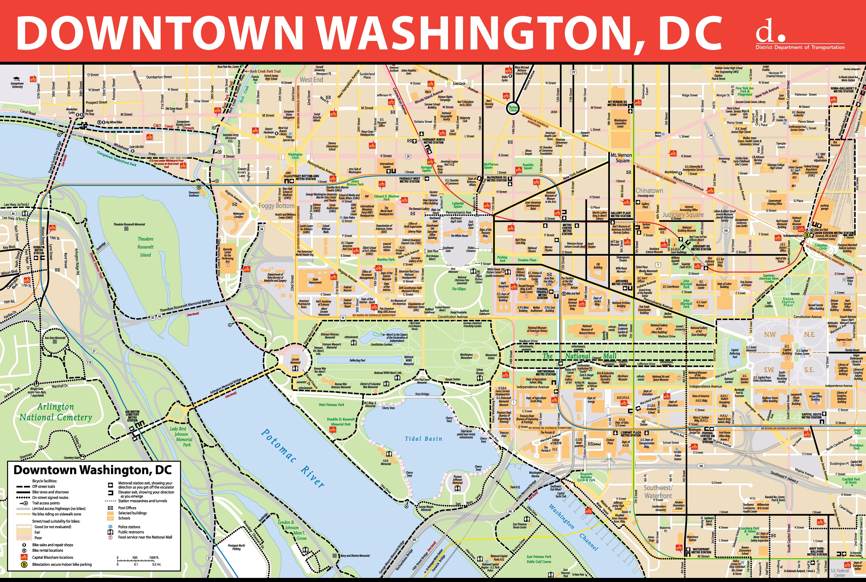 Washington, D.c. Maps | U.s. | Maps Of Washington, District Of Columbia - Printable Map Of Washington Dc
