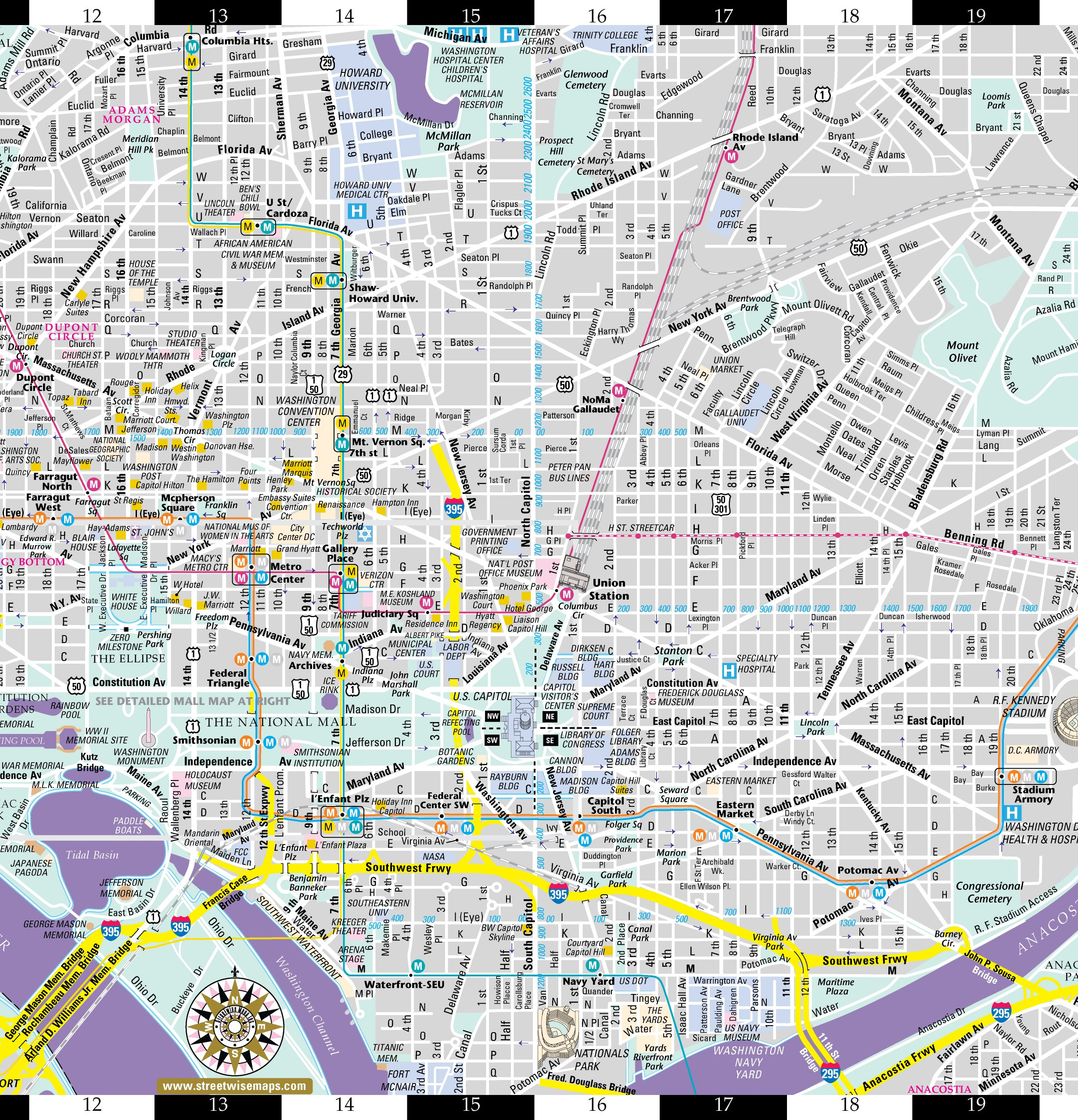 Washington Dc Map Tourist Printable | Travel Maps And Major Tourist - Printable Map Of Washington Dc Attractions