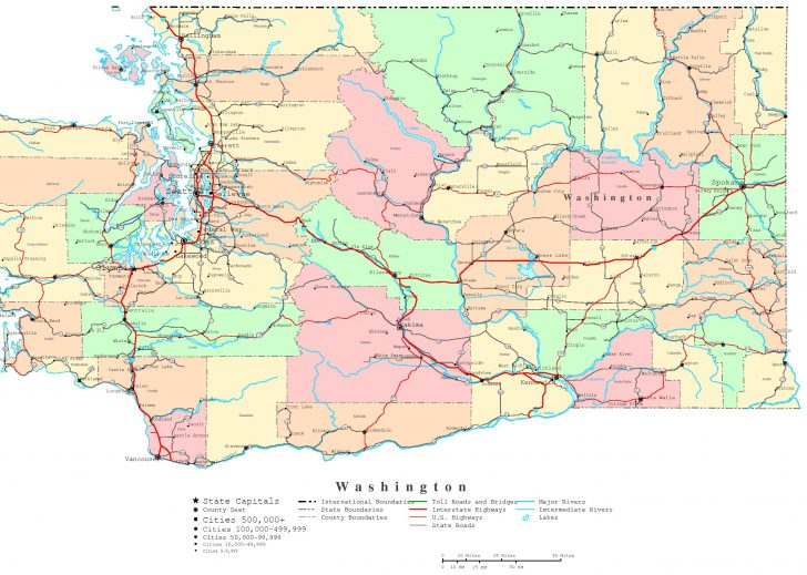 Printable Map Of Seattle Area