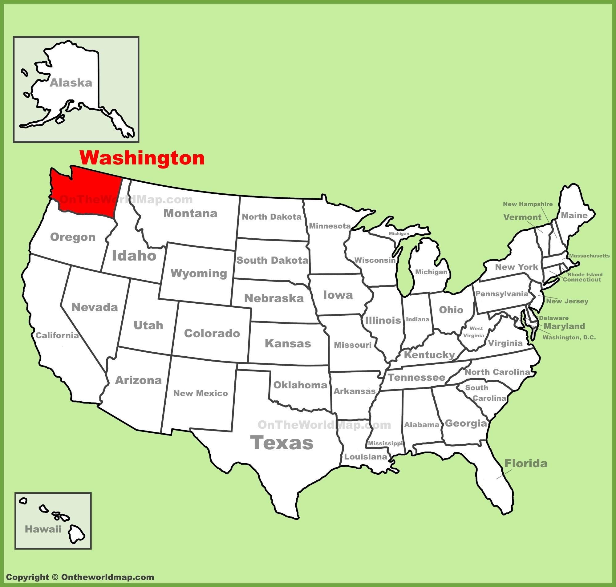 Washington State Maps   Usa   Maps Of Washington (Wa) - Printable Map Of Washington State