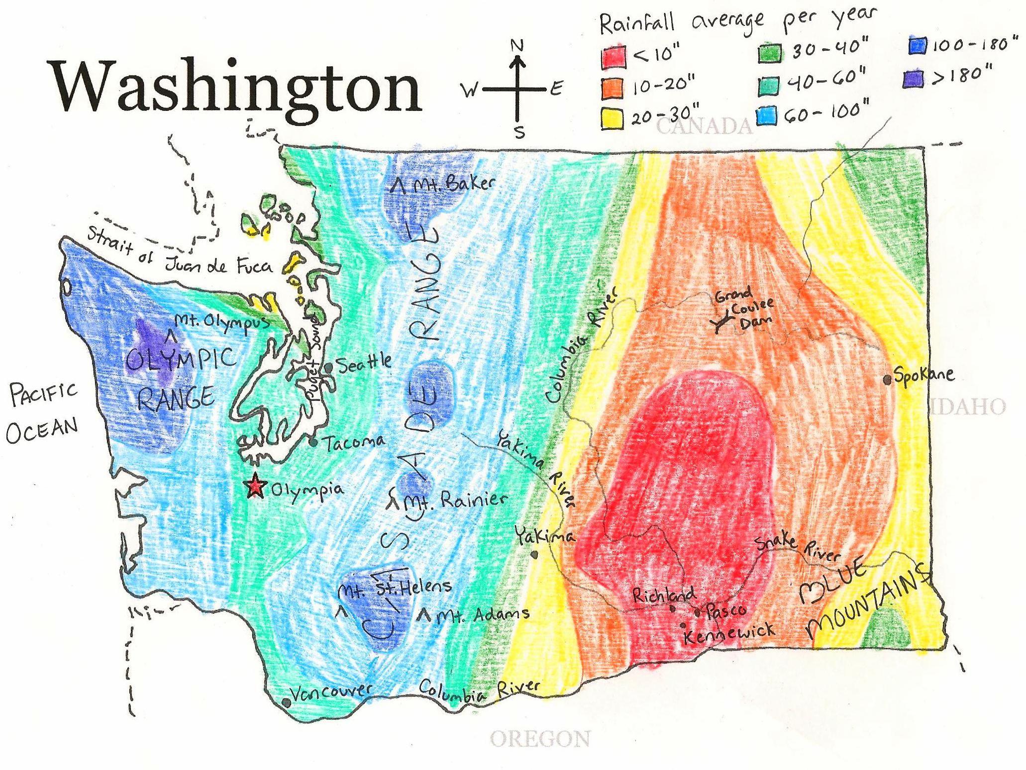 Washington State Printable Map   State Studies   Pinterest - Printable Map Of Washington State
